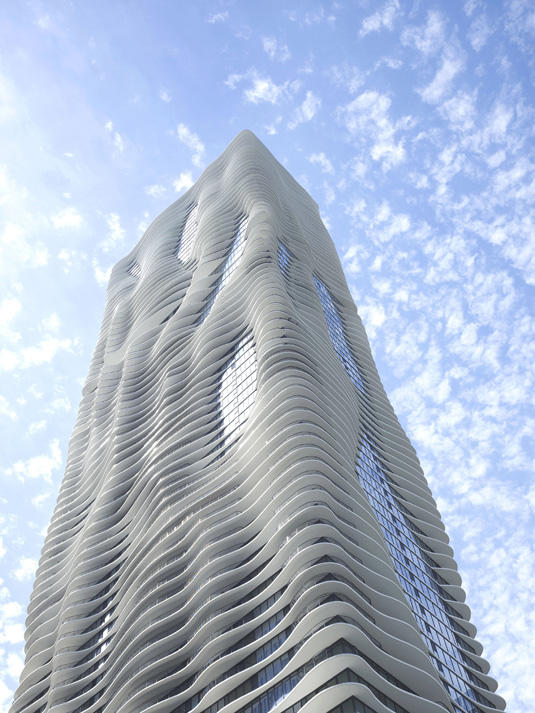 Aqua Tower, Chicago (proj. Studio Gang Architects), fot. Steve Hall © Hedrich Blessing