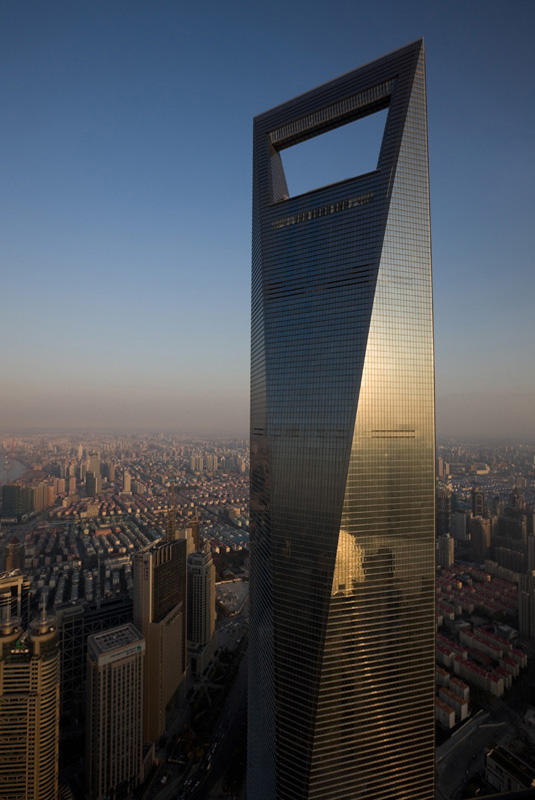 Shanghai World Financial Center, Szanghaj (proj. Kohn Pedersen Fox Associates), fot. © Shinkenchiku